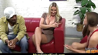 Beautiful mom surrounding overgrown pussy fuck a black dick 4
