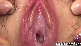 Japanese Cutie With A Hairy Pussy Squirting