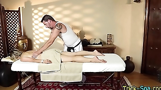 Masseuse strokes for cum