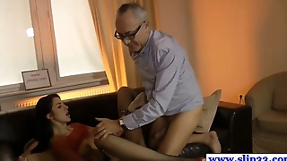 Young tall euro model up chuck threeway