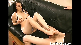 Excellent amateur footjob